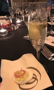Moët Ice Impérial paired with Green Goddess Deviled Egg