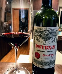Bottle of Petrus