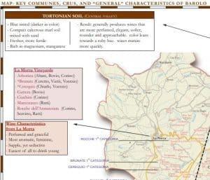 Barolo Cru map