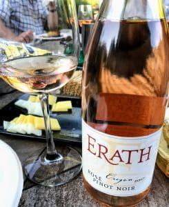 Erath Pinot noir rose wine