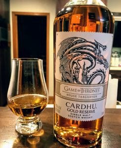Diageo Game of Thrones Cardhu bottling for the House Targaryen