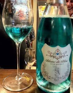 Blanc de bleu sparkling wine