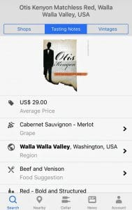 Wine Searcher screen grab
