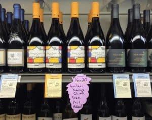 Shelf at Total Wine