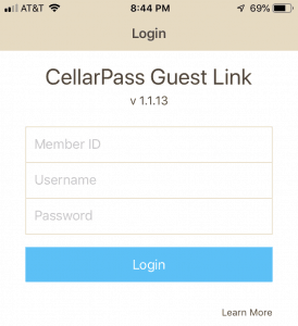 CellarPass mobile screenshot