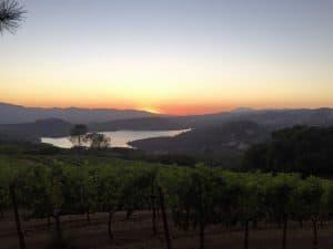 Pritchard Hill at sunset