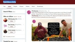 Pink society page