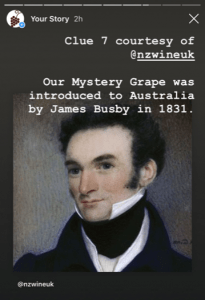 IG Mystery Grape clue James Busby