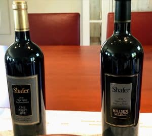 Shafer Cabernets.