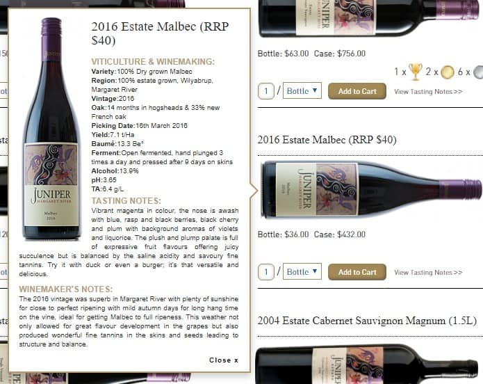 Juniper Estates Malbec