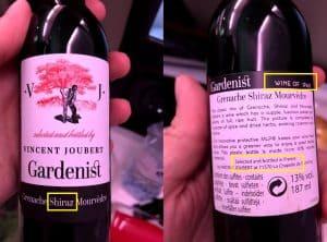Spanish wine bottled in France