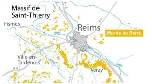 Map of Montagne de Reims