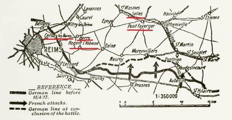 Map from By Anonymous - Ludendorff, E. (1919) My War Wemories, 1914–1918, Vol II, London: Hutchinson OCLC: 609577443., Public Domain