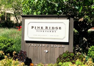 Pine Ridge Tasting Room sign