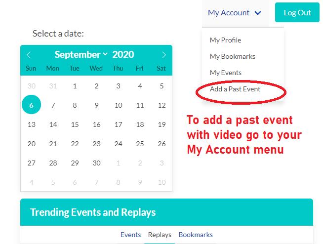 Add past event